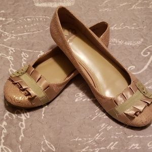 Champagne color flats
